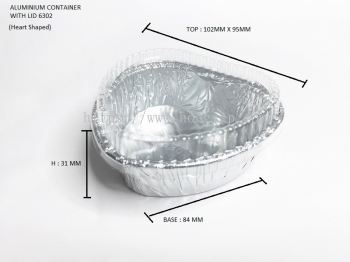 STAR PRODUCTS ALUMINIUM CONTAINER WITH LID 6302-P (Heart Shaped)