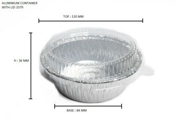 STAR PRODUCTS ALUMINIUM CONTAINER WITH LID 3379-P