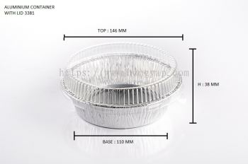 STAR PRODUCTS ALUMINIUM CONTAINER WITH LID 3381-P