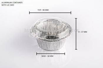 STAR PRODUCTS ALUMINIUM CONTAINER WITH LID 3403-P