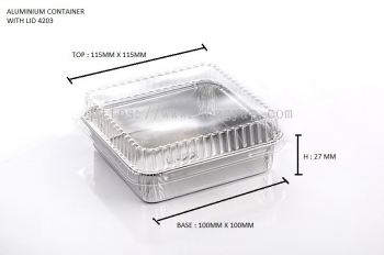 STAR PRODUCTS ALUMINIUM CONTAINER WITH LID 4203-P