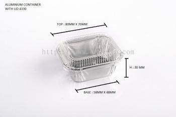 STAR PRODUCTS ALUMINIUM CONTAINER WITH LID 4330-P