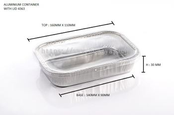 STAR PRODUCTS ALUMINIUM CONTAINER WITH LID 4363-P