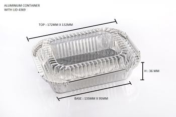 STAR PRODUCTS ALUMINIUM CONTAINER WITH LID 4369-P