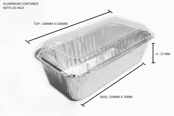 STAR PRODUCTS ALUMINIUM CONTAINER WITH LID 4423-P