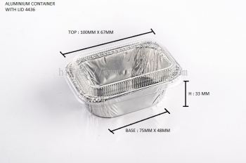 STAR PRODUCTS ALUMINIUM CONTAINER WITH LID 4436-P
