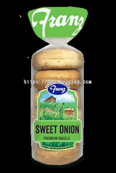 Franz Bakery Sweet Onion Bagels 510gm ( 6 pcs / pkt )