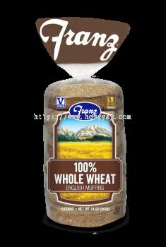 Franz Bakery Whole Wheat English Muffin 368gm ( 6pcs / pkt )