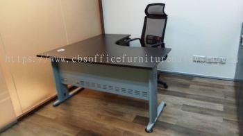 FREE DELIVERY & INSTALLATION L-SHAPE OFFICE TABLE QL 1515-3D (R) & BENSON HIGH BACK MESH CHAIR OFFICE FURNITURE | JAYA ONE | PETALING JAYA | SELANGOR