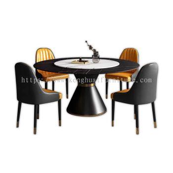 BENARDI MARBLE DINING SET (1T+6C)