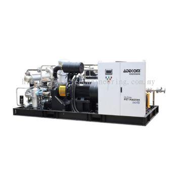 PET bottling application oil-free high pressure compressor