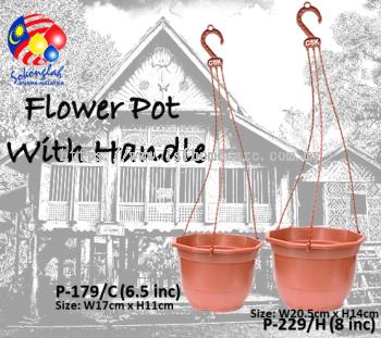 "21cm & 17cm Pasu Pokok Bunga Flower Pot 8"" & 6.5"" (L229/H & L179)"