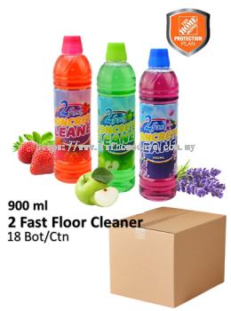 2 Fast 900ml Floor Cleaner Lavender, Strawberry, Apple(18bot)
