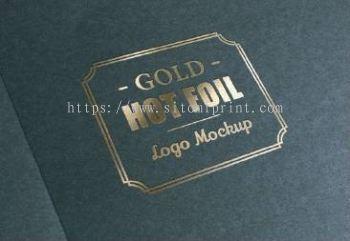 Hot Stamping Gold Business card �̽���Ƭ