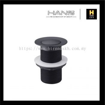 Hans Pop Out Waste Without Overflow (Black)