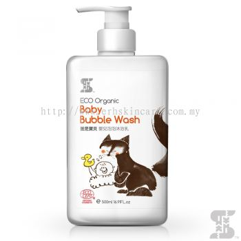 SASSI BABY Eco Organic Baby Bubble Wash 500ml for Eczema Rashes