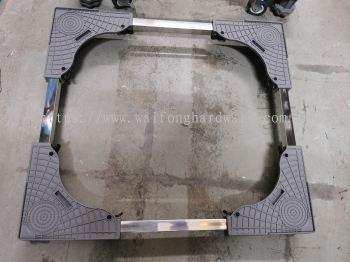 washing machine stand grey