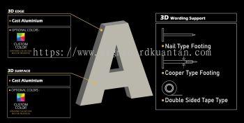 3D ALUMINIUM LETTERING