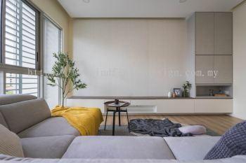 Condo - Living, TV Feature, Modern Classic