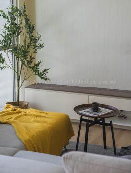 Condo - Living, Modern Classic