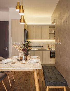 Condo - Dining & Kitchen, Scandinavian