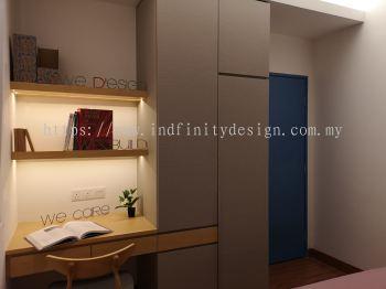 Condo - Bedroom, Study, Wardrobe, Scandinavian