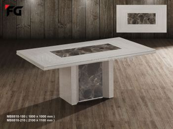 2.1M RECTANGLE 8 SEATER MARBLE TABLE