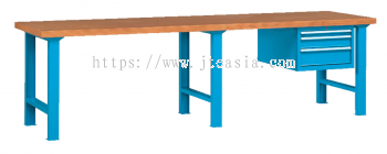 Professional Heavy Duty Cantilever Type Double-Section Working Bench with Beech Desktop