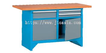 1500 x 750 x 865(h)mm Professional Heavy Duty Combination Workstations with Beech Desktop (Model B)