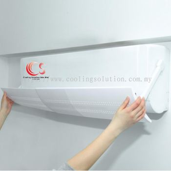 Aircond Windshield Adjustable Foldable Air Conditioner Deflector Cover Anti Direct Blowing Windshield AirCond