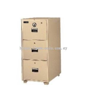UCHIDA 3 Drawer Fire Resistant Filing Cabinet (B4-3D)_260kg