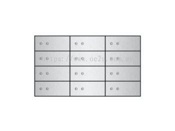 FALCON Safe Deposit Locker - 12 Lockers (FSDL 120510)_133kg