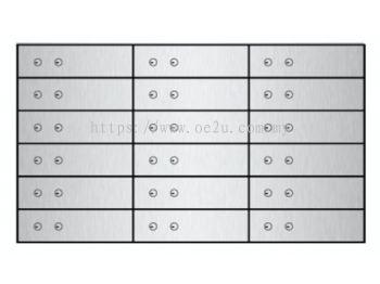 FALCON Safe Deposit Locker - 18 Lockers (FSDL 180310)_134kg