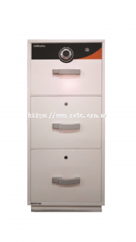 LION 3 Drawer Fire Resistant Filing Cabinet (Individual Locking)_260kg