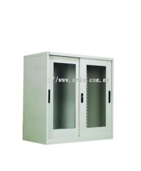 Half-Height Glass Sliding Door Cupboard