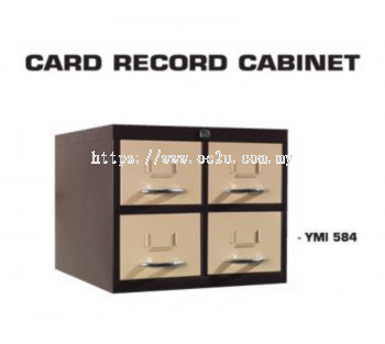 """4 Drawer Card Index Cabinet (Card Size: 5""""x8"""")"""