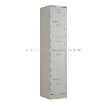 6 Compartment Steel Locker