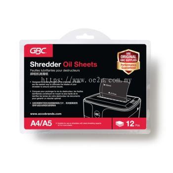 GBC Shredder Oil Sheets (12 sheets/pack)