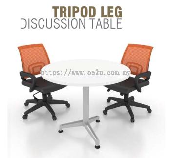 Round Discussion Table c/w Metal Tripod Leg (DT-TR)