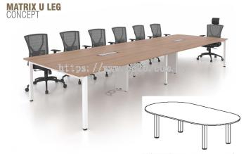 Oval Shape Conference Table c/w Matrix U Leg (UOC)