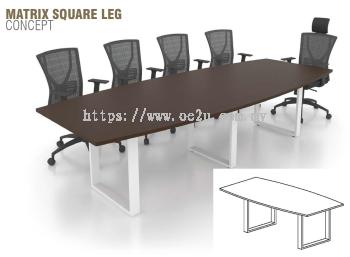 Boat Shape Conference Table c/w Matrix Square Leg (SBC)