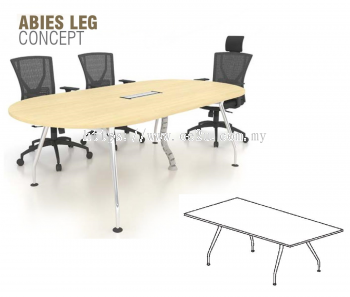 Rectangular Conference Table c/w Abies Leg (ABI-RC)