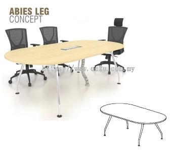 Oval Shape Conference Table c/w Abies Leg (ABI-OC)