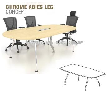 Boat Shape Conference Table c/w Chrome Abies Leg (CAB-BC)