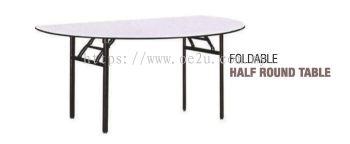 Foldable Half Round Table (Heavy Duty)