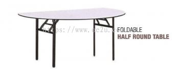 Foldable Half Round Table (Medium Duty)