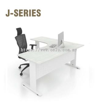 L-Shape Table c/w J Cantilever Leg