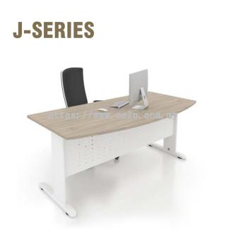 D-Shape Table c/w J Cantilever Leg
