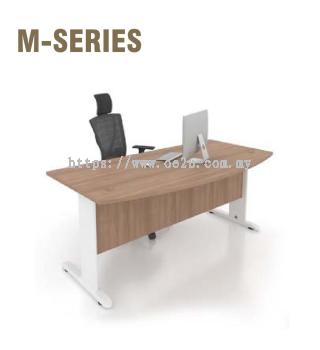 D-Shape Table c/w J Cantilever Leg & Wooden Modesty Panel