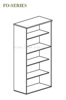 High Open Shelf Cabinet - 5 Tiers (FO Series)